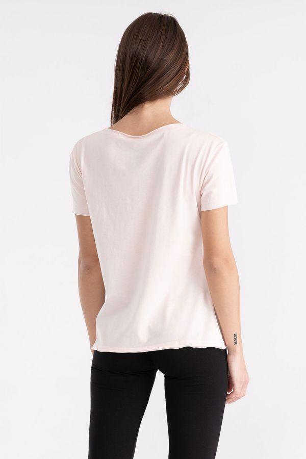 T-shirt da donna in jersey con maxi logo