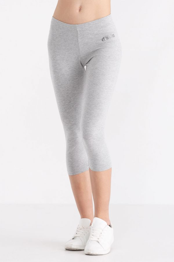 Leggings da donna modello capri, in jersey stretch