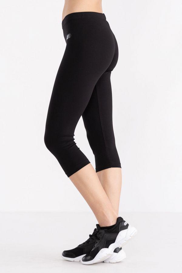 Leggings da donna modello capri, in jersey stretch