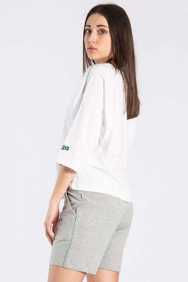 Maglia da donna in jersey di cotone