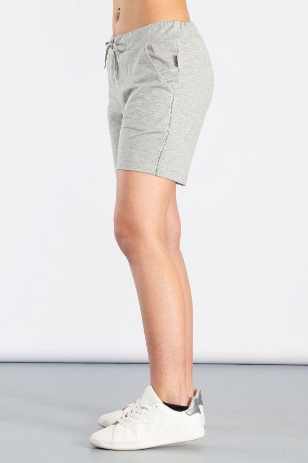 Shorts da donna in felpa di cotone