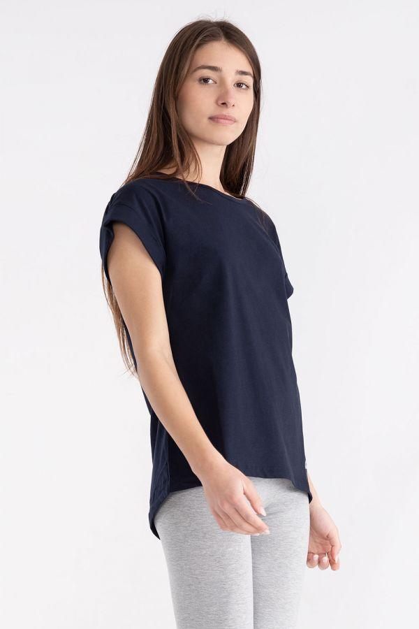 T-shirt da donna in jersey con logo
