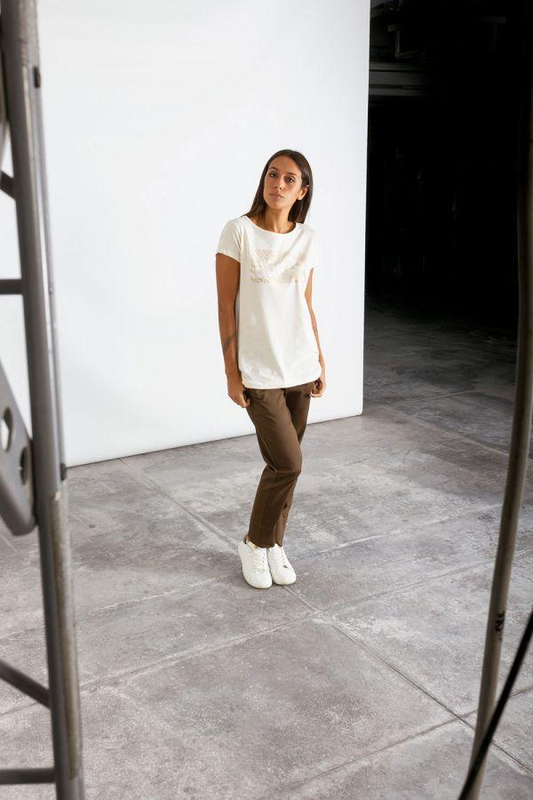 Maxi maglia donna basic in jersey bianco