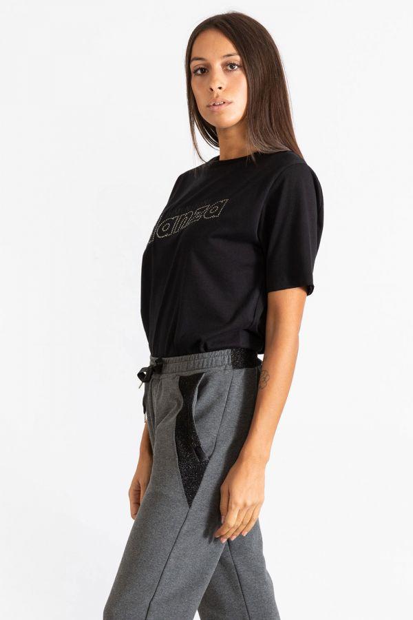 Maxi maglia donna basic in jersey nero