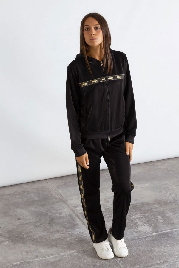 Giacca donna con zip e cappuccio in triacetato