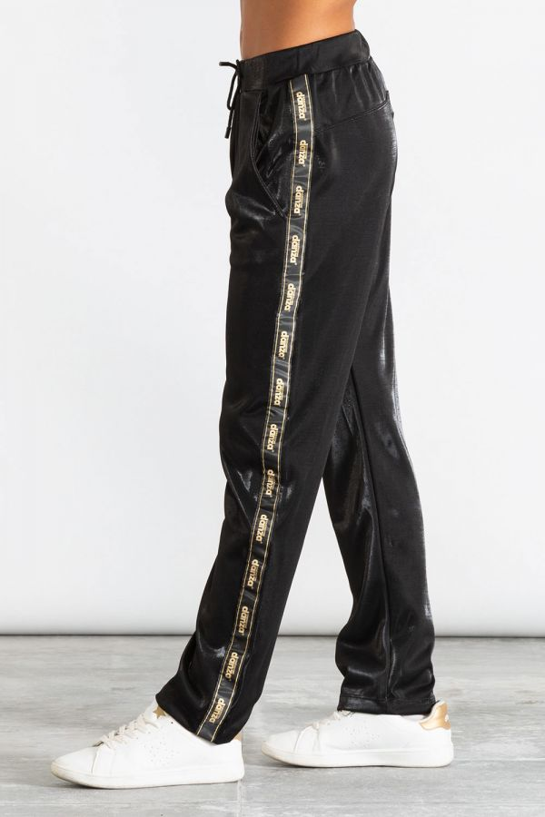 Pantalone donna in triacetato con inserti