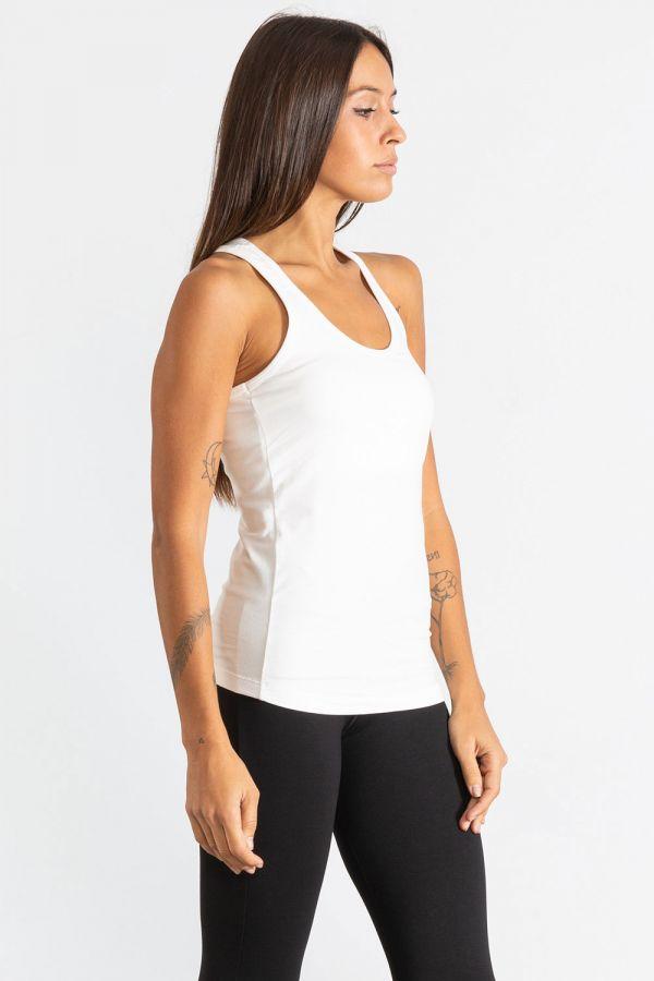 Canotta donna lunga in jersey stretch