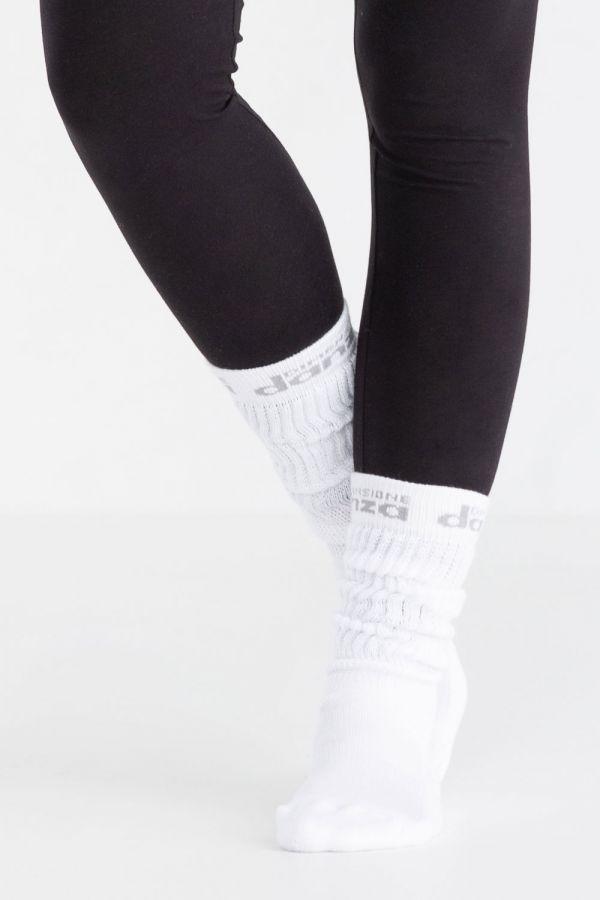 Calza fitness slouch con logo jacquard