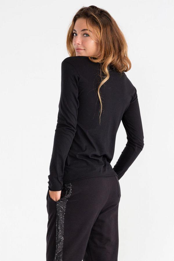 Maglia da donna a manica lunga in jersey stretch