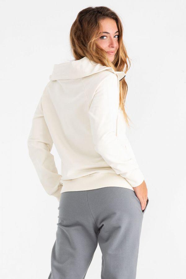 Giacca da donna modello felpa di tuta stretch