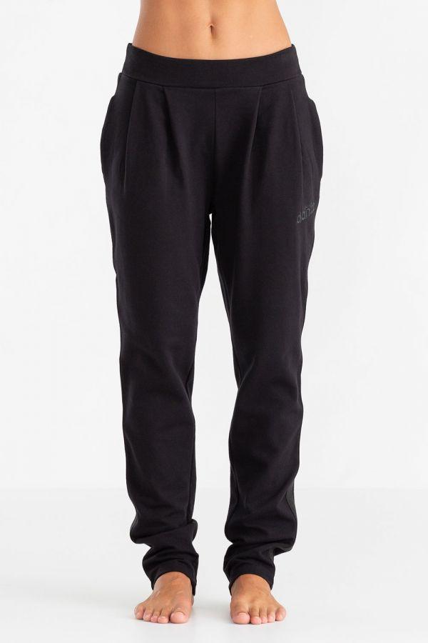 Pantalone da donna in felpa stretch, con pence sul davanti