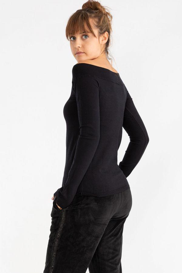 Maglia da donna morbida ed elasticizzata, con manica lunga
